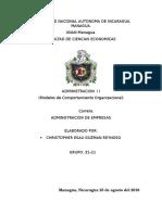Modelos de Comportamiento Organizacional.