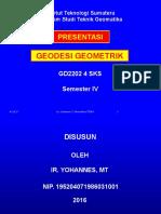 geodesi geometrik