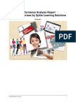 Performance Analysis Report for PJ Enterprises by Optim Learning Solutions