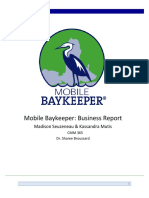 Mobile Baykeeper Business Report
