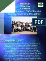 Intervención Emergencias y Desastres Dra. Cueva Valdizan
