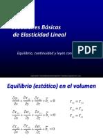 Ecuaciones Básicas de Elasticidad Lineal