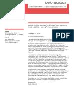 cover letter- binder