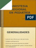 Anestesia Regional Pediatria