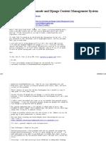 [GeoNode-users] Geonode and Django Content Management System