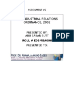 Industrial Relation Ordinance 2002