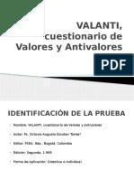 VALANTI, Cuestionario de Valores y Antivalores