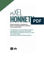 Honneth, Axel - Reconocimiento menosprecio.pdf