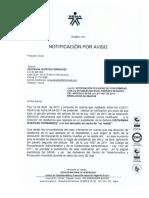 """""""NOTIFICACIÓN POR AVISO"""" DE CONFORMIDAD CON LA LEY 1437 DE 2011 ARTICULO 69."""
