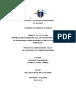 Plan Financiero de Exportación