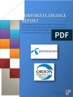 Corporate finance North south University report