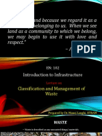 Classification and Management of Waste