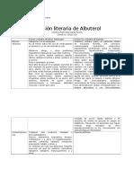 Revision Literaria de Albuterol