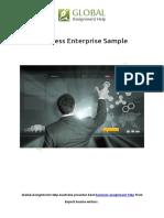 Small Business Enterprise Sample