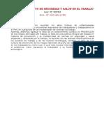Ley y Reglamento de Seguridad y Salud en El Trabajo Samed