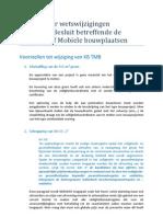 E-Zine 20100622 Voorstel Wijziging KB TMB