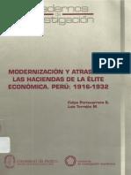 Felipe Portocarrero- Modernización y Atraso en Las Haciendas de La Elite Economica