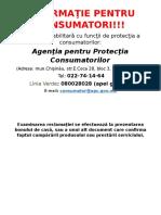 Informaţie Pentru Consumatori