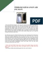 Cara Memperbaiki Kipas Angin Air Cooler Yang Mati