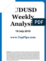 AUDUSD Weekly Analysis 19 July 2010
