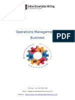 Importance of Operations Management in Business Organization