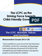 LCPC as the Driving Force Towards Child-Friendly Governance