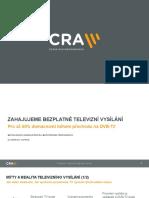 Prezentace CRA ke startu DVB-T2 v Brně a Ostravě