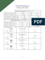 Potential Flow Formula