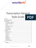 TranscribeMe Style Guide V1.2