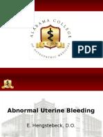 Abnormal Uterine Bleeding 7-17-16 Hengstebeck