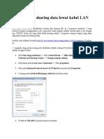 Tutorial Cara Sharing Data Lewat Kabel LAN Di Windows