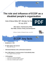ECDP presentation to Minister for Disabled People, 20 July 2010