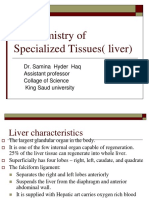 Biochemistry of Specialized Tissues( Liver)