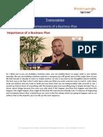 Transcription Components of a Business Plan