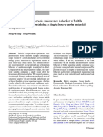 Strength Failure and Crack Coalescence Behavior of Brittle Sandstone Samples Containing a Single Fissure Under Uniaxial Compression