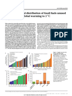 Nature Article on Keeping Fossil Fuels in the Ground 2015