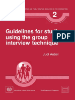 ILO Guide for Group Interviews