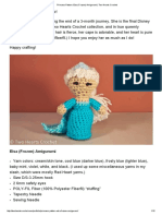 Princess Pattern_ Elsa (Frozen) Amigurumi _ Two Hearts Crochet