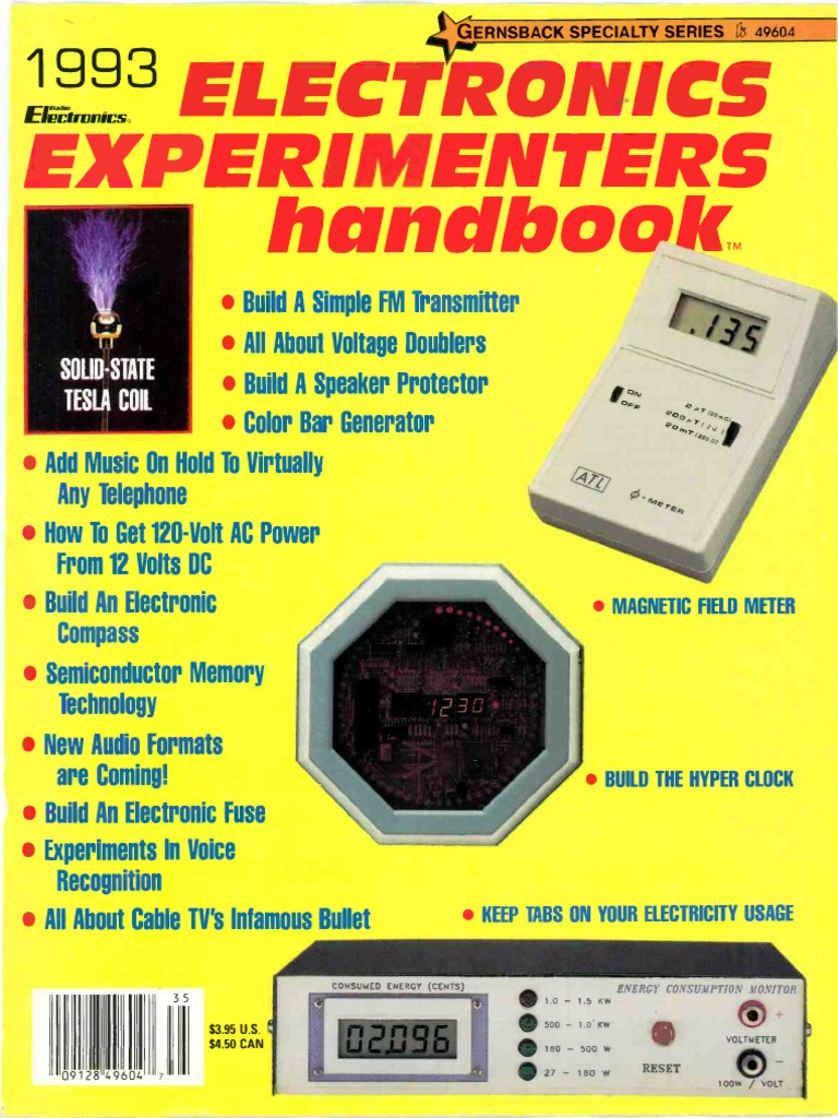 Experimenters Handbook 1993 Amplifier Electromagnetism Vertical Etching Tank For Diy Pcb Electronicslab
