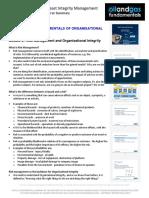 Organisational Integrity Module 2 Summary