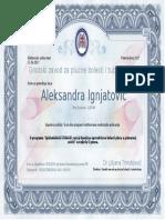 Certificate HOBP