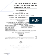 HOUSE HEARING, 114TH CONGRESS - DEPARTMENTS OF LABOR, HEALTH AND HUMAN SERVICES, EDUCATION, AND RELATED AGENCIES APPROPRIATIONS FOR 2017
