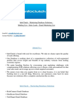 InfoClutch - Database Marketing  Solutions