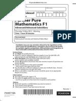 June 2015 (IAL) QP - F1 Edexcel