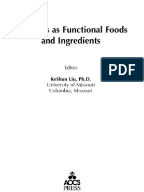Soybeans as Functional Foods A | Soybean | Saturated Fat