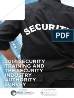 2014 Security Training and Security Indsutry Authority Survey