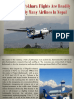 Kathmandu Pokhara Flights Are Readily Available by Many Airlines in Nepal