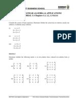 Linear Algebra Applications