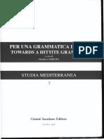 Per una grammatica ittita/ Towards a Hittite grammar-Studies in the Hittite Particles II