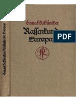 Rassenkunde Europas. - 1929